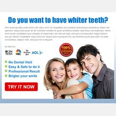 Buy teeth whitening clean and attractive call to action ppv landing page design your business conversion