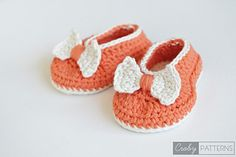 *Free Pattern: Orange Pumpkin - Crochet Baby Booties/Flats by Croby Patterns