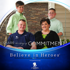 As the result of experiencing four separate mortar explosion incidents in less than 24 months, Tom Marcum suffered traumatic brain injury and struggles with the effects of post-traumatic stress disorder. He is a hero and a #WoundedWarrior. Click to read Tom's story of Commitment.  #BelieveinHeroes @Jon Smith Creed Warrior Project