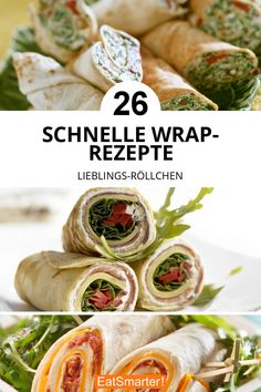 Die besten Wraps-Rezepte Regardless of whether you eat vegetarian or vegan or from time to time enjo Food To Go, Food And Drink, Low Calorie Recipes, Healthy Recipes, Lunch Wraps, Dried Beans, Wrap Recipes, Nutrition Program, Healthy Meal Prep