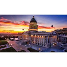 Screengrab from some sunset aerials we captured at the capital last night with the amazing @coltsandoval.  We love this machine... @djiglobal #inspire1 #dji #utahisrad by parkerwalbeck