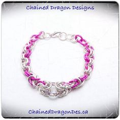 Created by Chained Dragon Designs. #bracelet #chainmail #ChainedDragonDes.com #jewelry