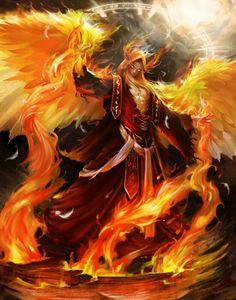 Angel espiritu de fuego