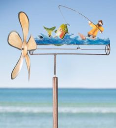 #River #Fisherman Iron #Whirligig