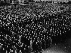 juifs-arreetes-kristalnacht Juifs arrêtés lors de la Nuit de Cristal. Kristalnacht 9-10 novembre 1938