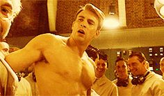 Pin for Later: Allow These Shirtless Chris Evans Movie Moments to Fog Your Screen Up That heavy breathing is not exclusive to you, Chris.