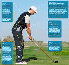 Check out Tiger Wood's posture for some helpful tips. #LoveGolf