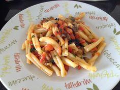 Pasta alla Norma or Caserecce alla Trapanese