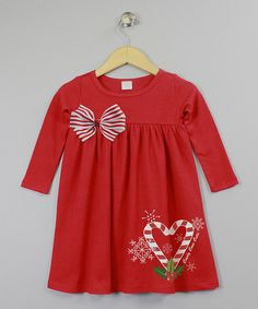 Another great find on #zulily! Red & White 'Candy Cane Cutie' Dress - Infant by Truffles Ruffles #zulilyfinds