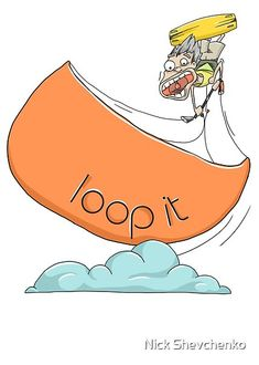"""Loop it"" design created especially for kitesurfers who love kiteloops. Kitesurfing, Top Artists, Car Stickers, Drawings, Funny, Design, Bumper Stickers For Cars, Ha Ha, Drawing"