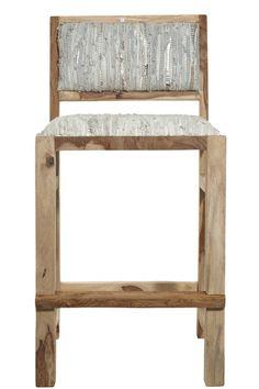 Sandstone Leather Bar Chair