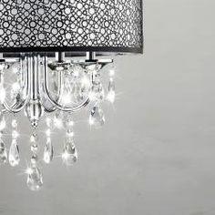 144.00 Indoor 4-light Chrome/ Crystal/ Metal Bubble Shade Chandelier - Overstock™ Shopping - Great Deals on Otis Designs Chandeliers & Pendants