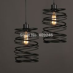 48.00$  Buy now - http://alitzk.worldwells.pw/go.php?t=32663124456 - Vintage Loft Industrial Edison Spring Ceiling Lamp DropLight Pendant Cafe Bar Dining Room Coffee Shop 48.00$