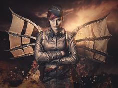 "Dieselpunk:  ""She is Wings on Fire,"" by RebecaSaray, at deviantART. #Dieselpunk."