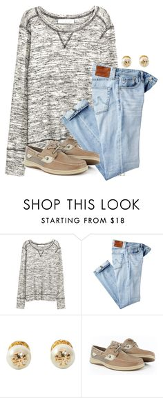 """""""How many siblings do y'all have?"""" by flroasburn on Polyvore featuring AG Adriano Goldschmied, Tory Burch and Sperry"""