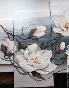 Volume Fresh magnolia Source by halilkutsal Watercolor Flowers, Watercolor Paintings, Painting Inspiration, Art Pictures, Flower Art, Wall Art Decor, Canvas Wall Art, Art Projects, Artwork
