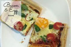 Bacon and Egg Pizzas Recipe