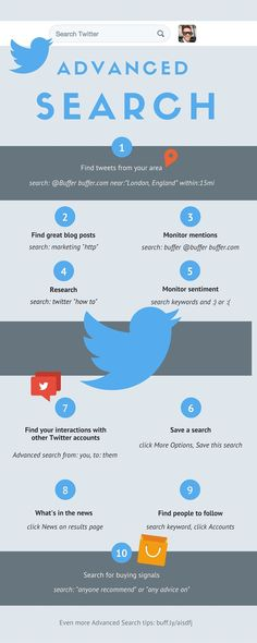 What Are Top Tips For Using Twitter Advanced Search? #infographic