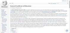 General Certificate of Education - Wikipedia, the free encyclopedia