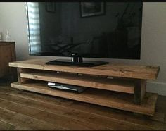 Chunky Rustic TV AUDIO DVD UNIT MK1 Solid Wood - Oak Stain UK made FREE P&P in Home, Furniture & DIY, Furniture, TV & Entertainment Stands | eBay