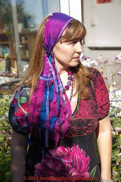 Plum and Dark Blue Gypsy Bohemian Hippie by RagsForGypsies on Etsy
