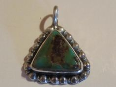 Vintage Southwestern Sterling Silver Turquoise Pendant by PGSCoins