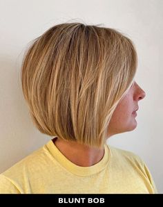 Consider this lovely blunt bob if you want a modern style! And... check out all of these 17 most stylish ideas for blunt cut bob haircuts. // Photo Credit: @hairbyallybarone on Instagram Blunt Bob Haircuts, Blunt Cuts, Latest Hairstyles, Face Shapes, Short Hair Cuts, Photo Credit, Long Hair Styles, Stylish, Lady