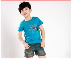 Retail New Boy Summer Hot Pants Cool Cartoon Jean Shorts Kids Short Trousers,Free Shipping K0831