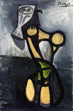 Hibou sur une chaise, 1947, huile sur toile, 41 x 27 cm