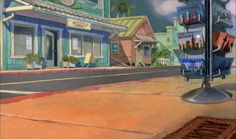 Animation Backgrounds: LILO AND STITCH