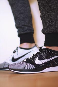 Nike Flyknit Racers & i love ugly ZESPY pants. Men's fashion