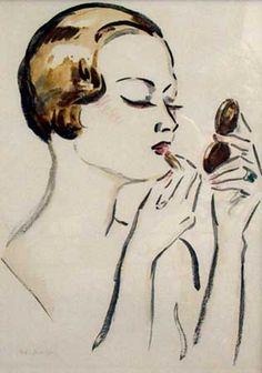 Kees van Dongen - Femme Qui se Poudre