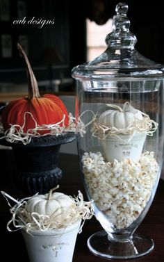 Festive popcorn filler for Halloween.