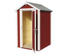 Gerätehaus Mini premio mit Fußboden 120x126 cm schwedischrot