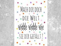 """Kunstdruck  """"WIDDE WIDDE WIE"""""""