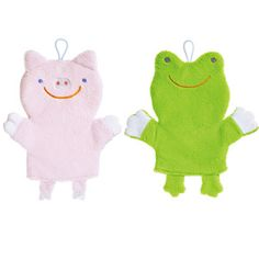Piggy And Froggy Bath Mitt Set, $16, now featured on Fab.