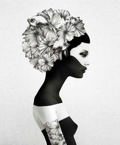 As ilustrações femininas do artista Ruben Ireland retratam mulheres como seres místicos stylo urbano-2