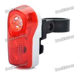 Bicycle Bike 2-Mode 3-LED Red Light Tail Warning Safety Light - Red   White (2 x AAA) Price: $5.76