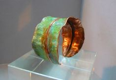Cuff | PM Designs.  Copper with a lovely green patina.