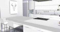 Liney Sims: Modern White Kitchen • Sims 4 Downloads