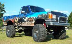 1991 Ford F-150.Love the paint job.