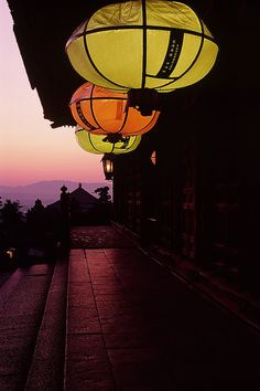 Lanterns at Todai-ji temple, Nara, Japan