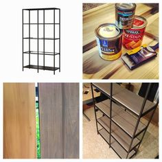Poppytalk: 20 Best IKEA Hacks of 2013 14. Industrial Vittsjo The glass of the Vittsjo is removed and replaced with a stained wood to create a more industrial-style shelf. Click here for the how-to.