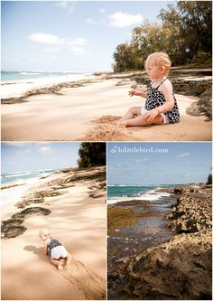 Turtle Bay Beach. A coastal hike with seashell surprises, big surf, protected swimming holes and a wild feel. www.hilittlebird.com