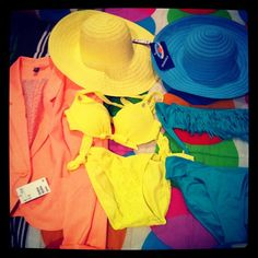 #packing #turksandcaicos #pastels #brightcolors #vsteenybikini #soexcited #cantwait