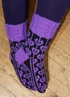 Sydännauhat varresta 1 | Nojatuolin uumenista Drops Design, Knitting Socks, Alpacas, Knit Crochet, Slippers, Female Hairstyles, Blogg, Cookies, Fashion