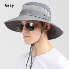 UV package bucket hat breathable veil design sun hats for men