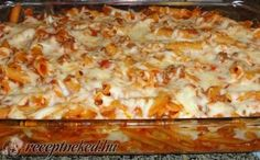 One night last week I came home from work, very tired and needed something super quick for dinner. This dish saved me that night and the be. Crazy Cookies, Hungarian Recipes, Pasta Bake, Hawaiian Pizza, Meat Recipes, Recipies, Lasagna, Macaroni And Cheese, Stuffed Mushrooms