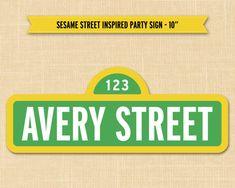 Sesame Street Sign - Sesame Street Birthday Party Custom Name Sign Printable…