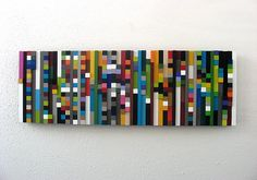 Modern Wood Sculpture 12x36  Made To Order by RusticModernDesigns, $324.00